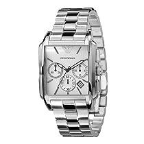 Emporio Armani Classic Chronograph Silver Dial Mens Watch AR0483