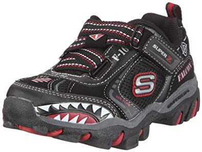 Skechers Afterburn, Baskets mode garçon - Noir (Bkrd), 27.5 EU (10 UK)