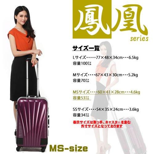 ストッパー付スーツケース TSAロック搭載 フレームタイプ 旅行カバン 鳳凰 Lサイズ Mサイズ MSサイズ (28、大型、L, ワインレッド)