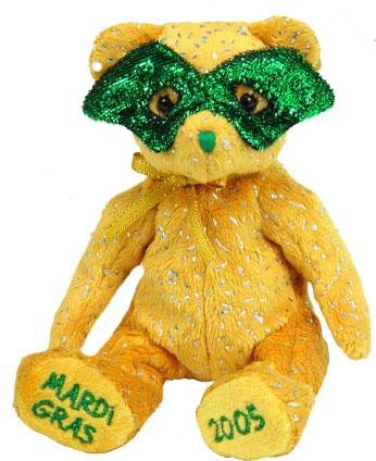 TY Beanie Baby - MASQUE the Mardi Gras Bear (Internet Exclusive)