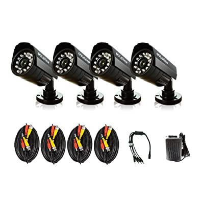 LaView LV-KCA04B5B CCTV Security Cameras 520TVL IR Day/Night Outdoor - 4 Pack