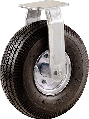 Shepherd Hardware 9795 8-Inch Medium Duty, Pneumatic Rigid Plate Caster, 220-lb Load Capacity