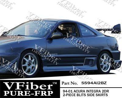SS94AI2BZ-Acura Integra 94-01 2dr VFiber FRP Blits 2-piece Side Skirts