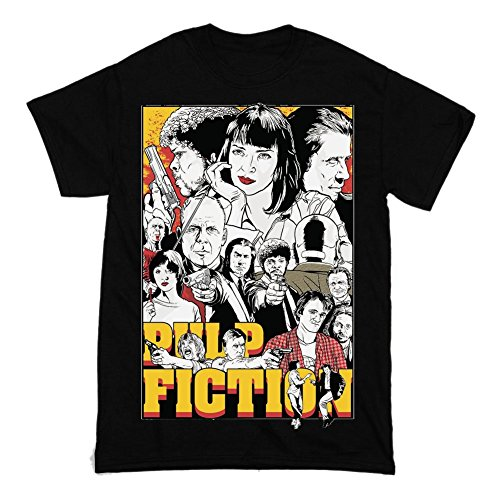 PULP FICTION Quentin Tarantino Movie Poster Artwork Men's T-shirt Medium