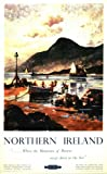 Vintage Poster Shop British Rail Northern Ireland Mountains of Mourne Railway Poster A2 Print