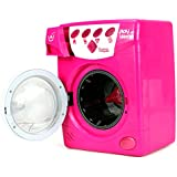 Big Deluxe Play at Home Pretend Play Battery Operated Toy Washing Machine Play Set w/ Lights, Sounds, Rotating Drum