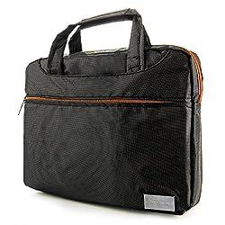 VanGoddy NineO Collection Messenger Bag for Fujitsu LifeBook 13.3 to 14-inch Laptops (Gray & Orange)