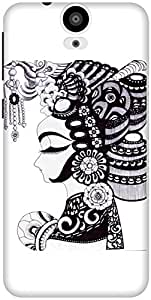 The Racoon Grip Lady hard plastic printed back case / cover for HTC One E9 Plus
