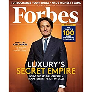Forbes, August 25, 2014 Periodical