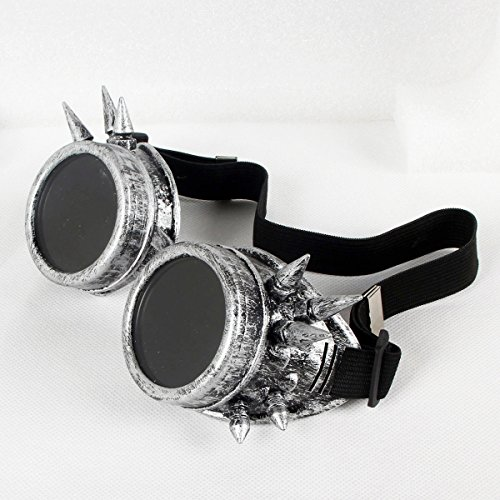 FLORATA-Vintage-Steampunk-Goggles-Party-Cosplay-Glasses-Old-Silver