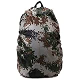 Eforstore Backpack Rain Cover Waterproof Pack Covers Nylon Rucksack Bag Rainproof Dust Raincover for Outdoor Hiking Camping Traveling Cycling Climbing Riding Sports 35L (Camouflage)