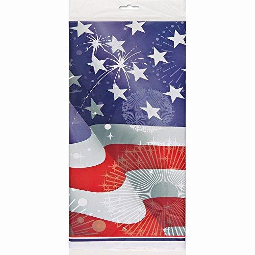 Nappe plastique drapeau americain - Taille Unique