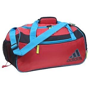 adidas Squad II Duffel Duffel Bag Bahia Pink/Samba Blue/Mercury Grey/Electricity One Size