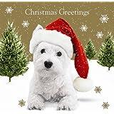 Snowfall Westie Christmas Cards Pack