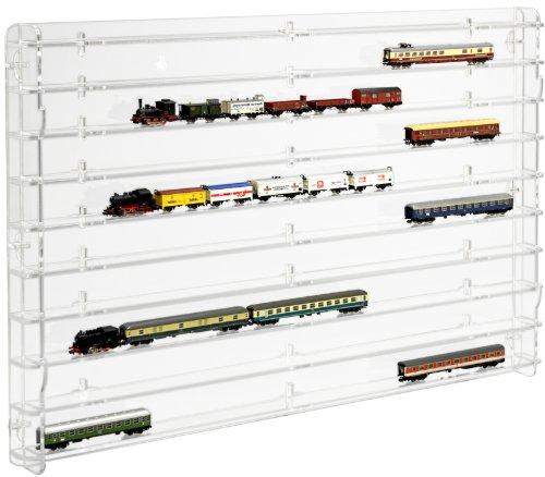 SORA Modèle chemin de fer échelle N Vitrine de protection avec transparent panneau arrière
