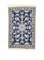 L'Eden del Tappeto Alfombra Nain K Azul / Barro 60 x 90 cm