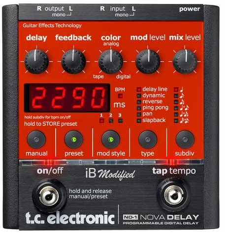 TC Electronic Nova Delay iB Modified Guitar Effects 