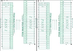 CNC INC V3 Item Analysis Compatible with Scantron 882 100 Question OCR OMR Test Form 100 Pack