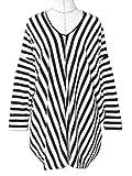 (フルールドリス)Fluer de lis カットソー トップス Tシャツ 長袖 ストライプ コクーン Vネック プルオーバー ルーズシルエット 産前産後 マタニティ 妊婦 産前産後兼用 ファッション グッズ レディース服 ft542-m1-9360bf