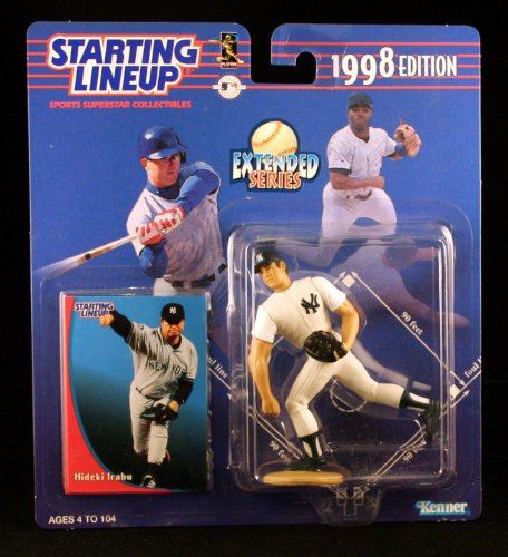 HIDEKI IRABU / NEW YORK YANKEES 1998 MLB Extended Series Starting Lineup Action Figure & Exclusive Collector Trading Card
