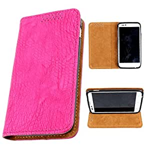 i-KitPit PU Leather Flip Case For Sony Xperia ZR (PINK)