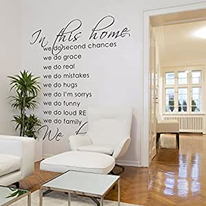 wall decal sticker art vinyl poster print sign for living dining room