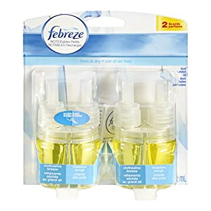 Febreze NOTICEables Linen & Sky Air Freshener Refill (2 Count; .879 Fl Oz Each), 1.758 Ounce