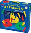 Lauri TALL STACKER PEGS a-z PEGBOARD SET (lower case)