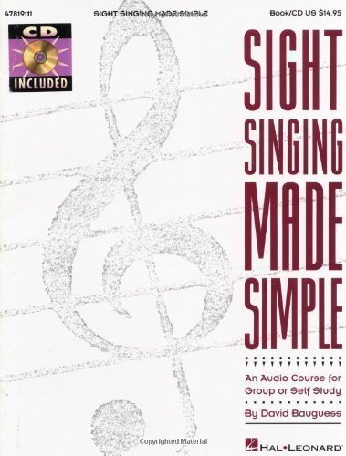 Sight Singing Made Simple Vce Book/Cd