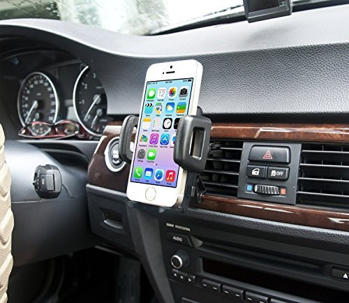 IBRA Dedicated Air Vent Car Holder Mount Black Vehicle Louvers Phone Cradle Mount For Apple Iphone 6 / 6 Plus / 5 / 4 / 4s / 3G / 3 and IPOD series 2015 Model (Vehicle Air Vent compare prices)