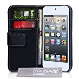 iPod Touch 5G 5 PU Leather Wallet Case Blackby Yousave Accessories