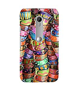 Colourful Cups Moto G3 Case