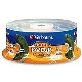 DVD-R, 4.7GB, 16x, 25/PK, Color LightScribe