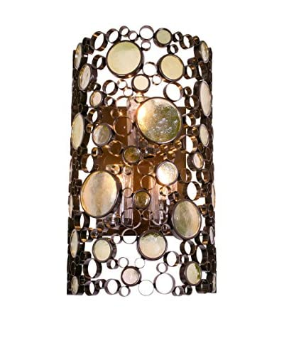Varaluz Fascination 3-Light Wall Mounted, Glossy Bronze/Champagne Glass