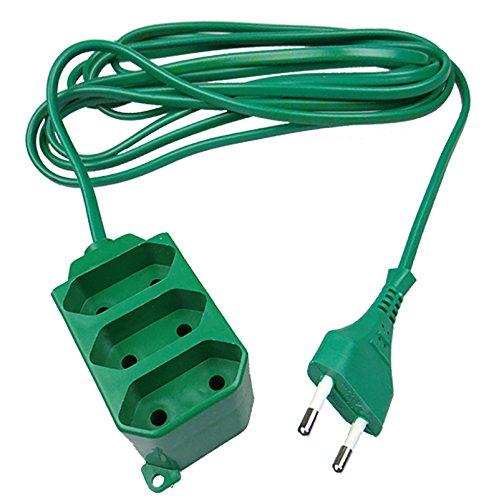 Verlngerungskabel-Verlngerung-1-fach-3-fach-Strom-Kabel-Euro-Stecker-15-Meter-3-Fach-Grn