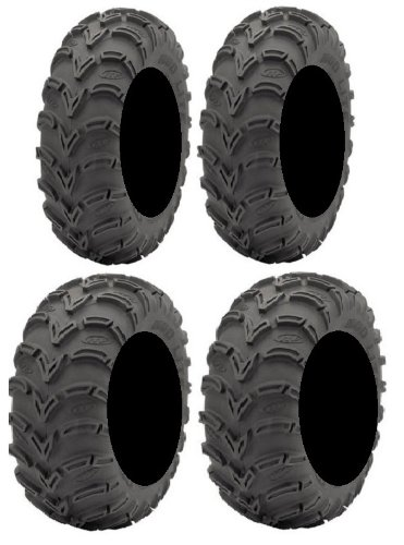 Full set of ITP Mud Lite (6ply) 25x8-12 and 25x10-12 ATV Tires (2) (Atv Tire Set compare prices)