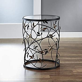 Barrel Table 22 Inch Removable Top Garden Accent Decor New