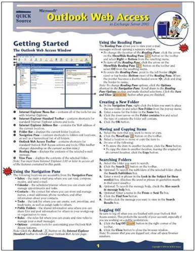 Microsoft Outlook Web Access in Exchange Server 2003 Quick Source Guide