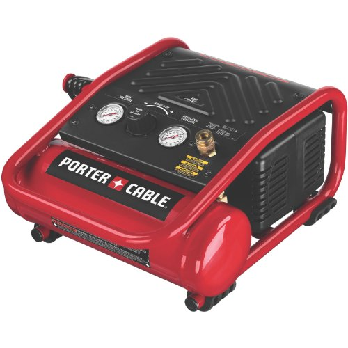 PORTER-CABLE C1010 Heavy-Duty 1-Gallon 135 PSI Max Quiet Trim Compressor