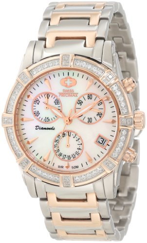 Swiss Precimax Women's Desire Elite Diamond SP12081 Two-Tone Stainless-Steel Swiss Quartz Watch with Mother-Of-Pearl Dial
