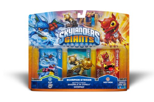 Skylanders Giants Battle Pack #2: Zap - Scorpion Striker - Hot Dog (Hot Dog Cannon compare prices)