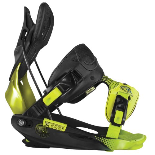 Flow M9 Snowboard Bindings Black/Lime Sz XL (10.5-15)