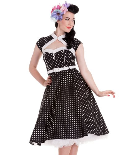 Hell Bunny Black Melanie Dress M - UK 10 / EU 38