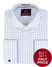 Sartorial Pure Cotton Wide Checked Shirt