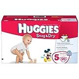 Huggies Snug & Dry Diapers, Size 5, Giant Pack, 120 Count ~ Huggies