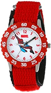 Marvel Comics Kids' W000104 Spider-Man Stainless Steel Time Teacher Watch
