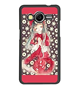 PrintDhaba Cute Girl D-2775 Back Case Cover for SAMSUNG GALAXY CORE 2 G355H (Multi-Coloured)