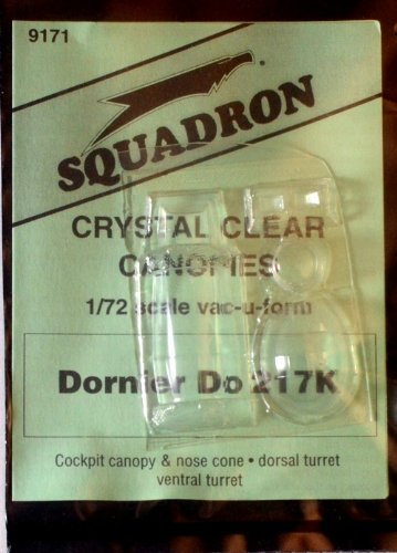Squadron Products  Dornier Do 217K Vacuform Canopy