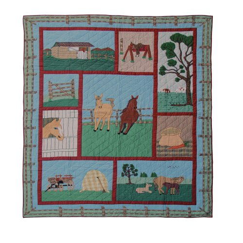 Twin Horse Comforter front-587868