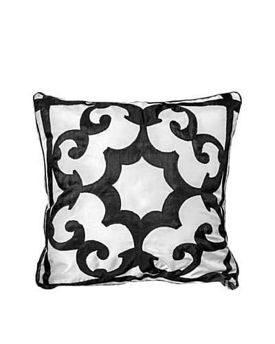 Polysatin Pillow, Black/White As You See